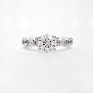 18K White Gold Star 129 Diamond Engagement Ring
