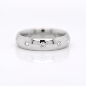 14K White Gold Diamond Flush-Set Diamond Band