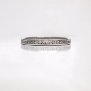 Platinum Channel-Set Diamond Eternity Band