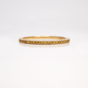 18K Yellow Gold Yellow Diamond Wedding Band