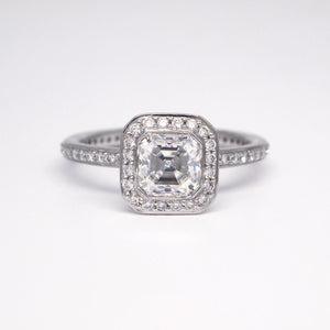 Platinum Endless Love Diamond Engagement Ring