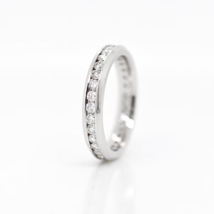 Platinum Round Diamond Chanel Eternity Band