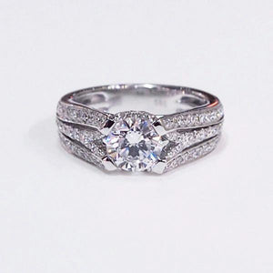 14K White Gold Semi-Mount Diamond Engagement Ring