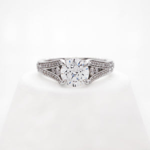 Platinum Reverse Taper Diamond Engagement Ring