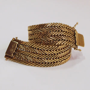 18K yellow gold woven Bulgari bracelet