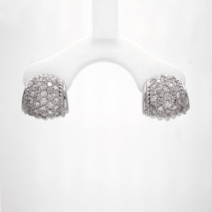 18K White Gold BB Pave Diamond Earrings
