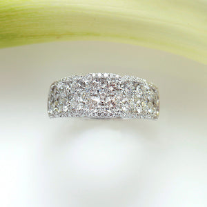 White Gold Brilliant Cut Diamond Wedding Band