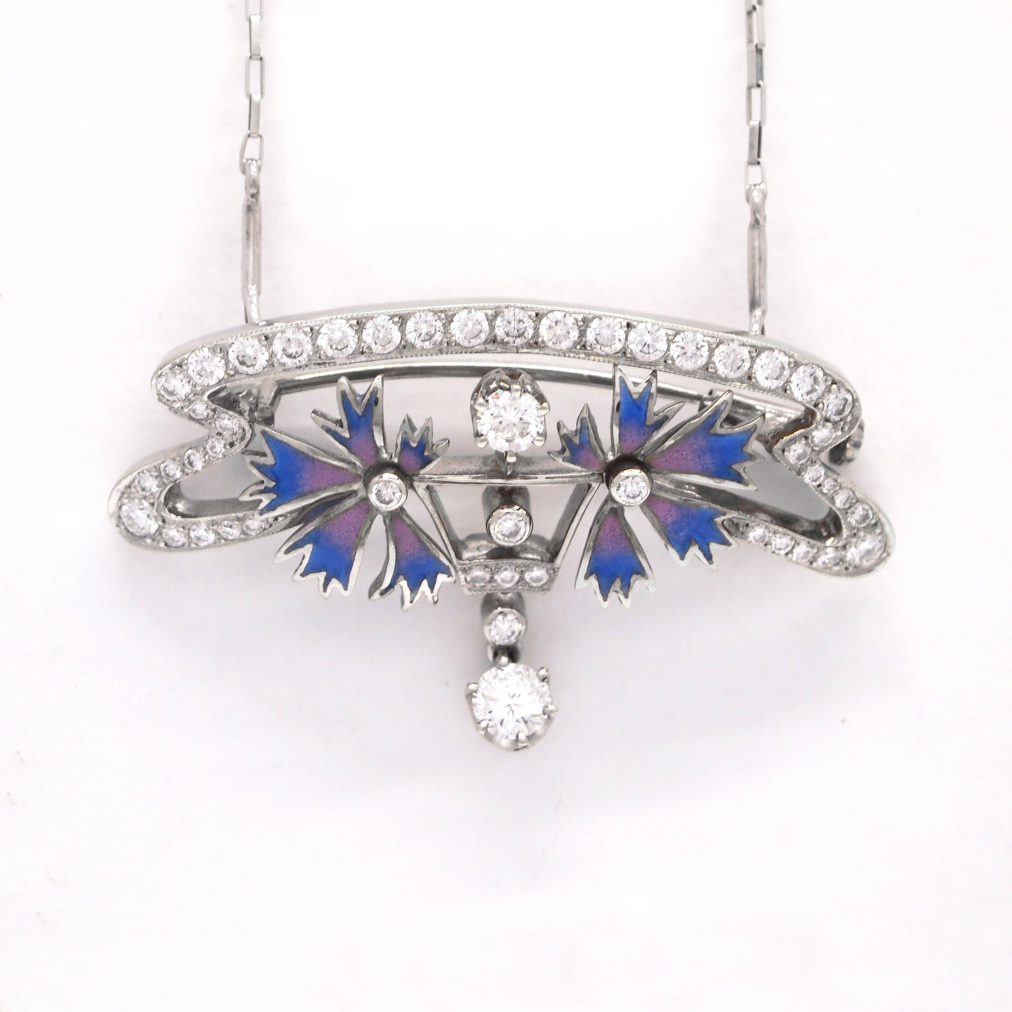 art nouveau necklace diamond