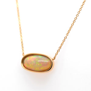 14K Yellow Gold Ethiopian Opal Necklace