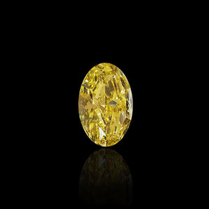 3.14 Carat Oval Fancy Intense Yellow Diamond
