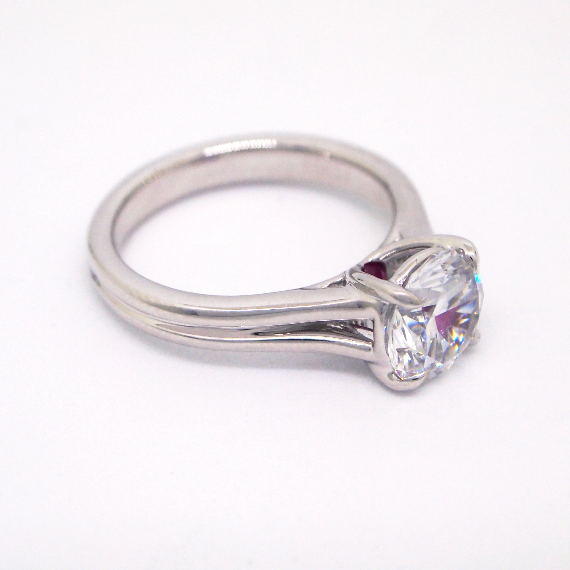 princess solitaire cut diamond johnmacintyre ring products platinum
