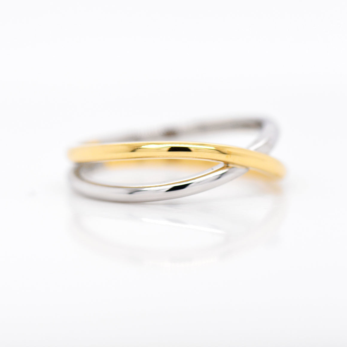 Platinum And 18K Yellow Gold Eternity Men's Wedding Band