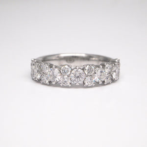 Christopher Designs 18K White Gold Diamond Band