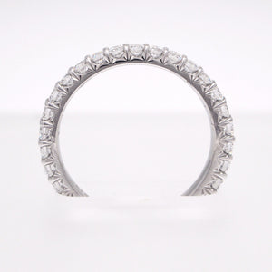 Mark Patterson platinum eternity ring with 30 brilliant cut diamonds weighing a total of 1.00 carat.