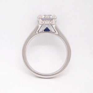 Point of Love Platinum Diamond Engagement Ring With Sapphire Point