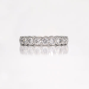 Platinum Diamond Bezel Eternity Wedding Band