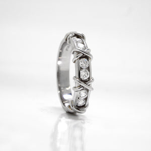 "Platinum ""XOXO"" Diamond Band"