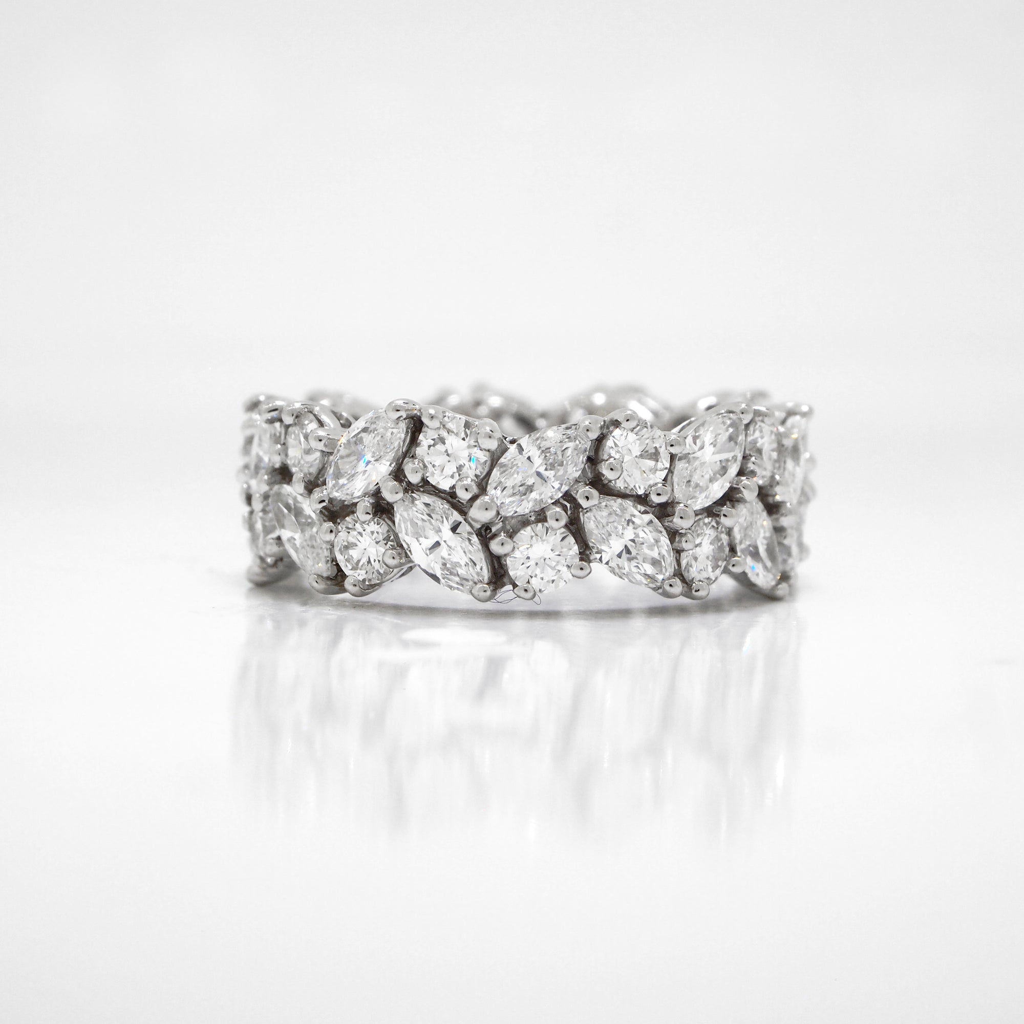 Platinum Marquis Diamond Eternity Band