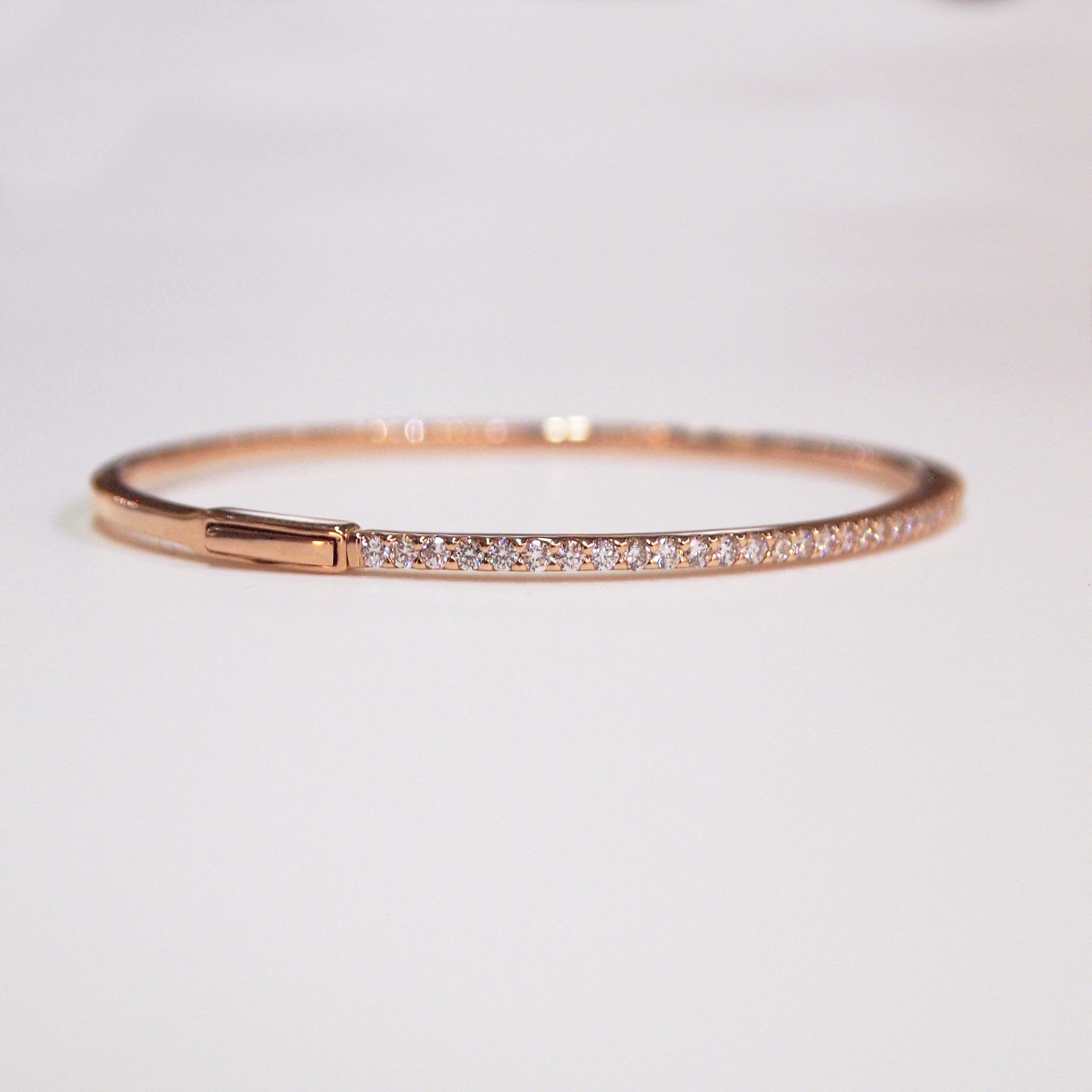 diamond phillips circle house gold always love wire bangle bracelet round bangles rose infinity