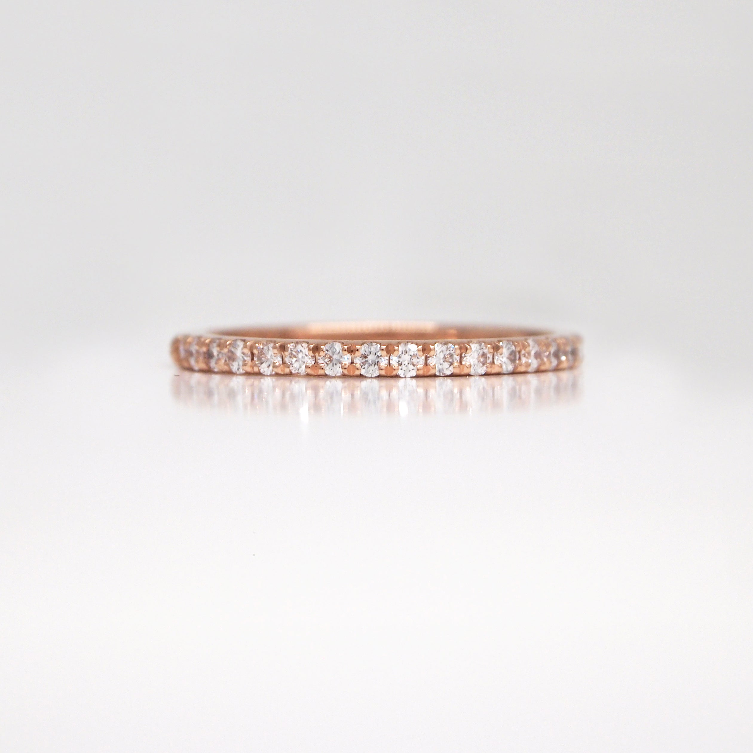 in bands diamonds products set wedding bead diamond eternity baxtermoerman rose with bezel band gold