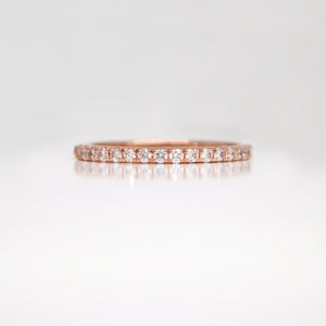 18K Rose Gold Diamond Wedding Band
