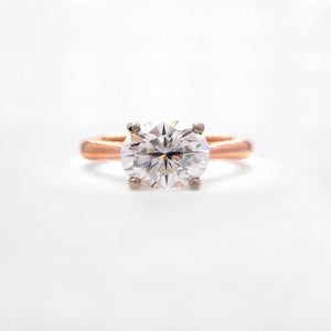 18K White And Platinum Gold Solitaire Engagement Ring