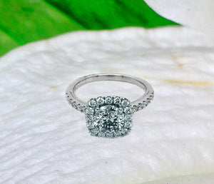 14K White Gold 1.17ct Round Diamond Engagement Ring