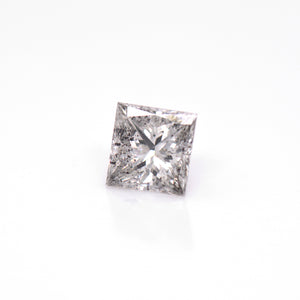 1.70 Carat Princess-Cut Salt & Pepper Grey Diamond