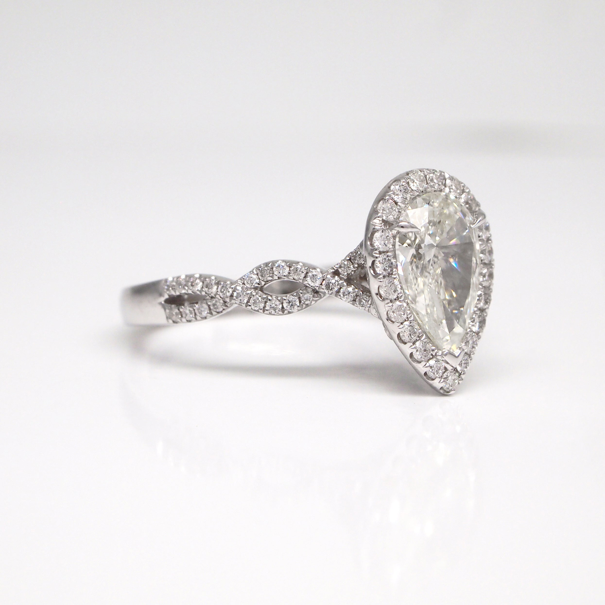 shaped diamonds wedding with rings diamond large of pear pave engagement luxury