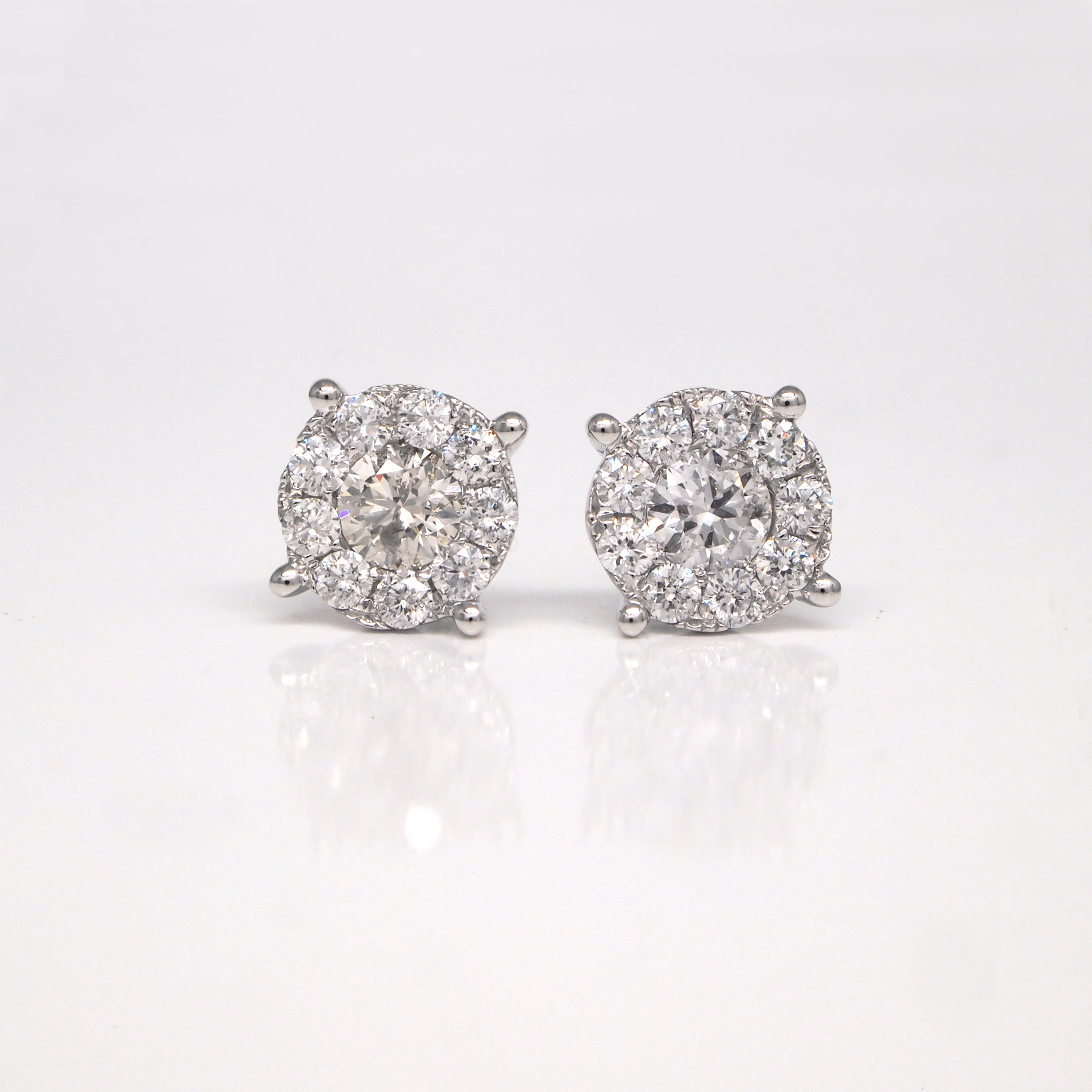 collections set products huggie natural invisible diamonds diamond princess cut earrings classic