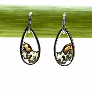 Mark Patterson Quartz, Citrine, and Peridot Earrings