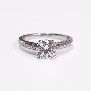 Lazare Kaplan platinum semi-mount engagement ring with 24 full-cut side diamonds