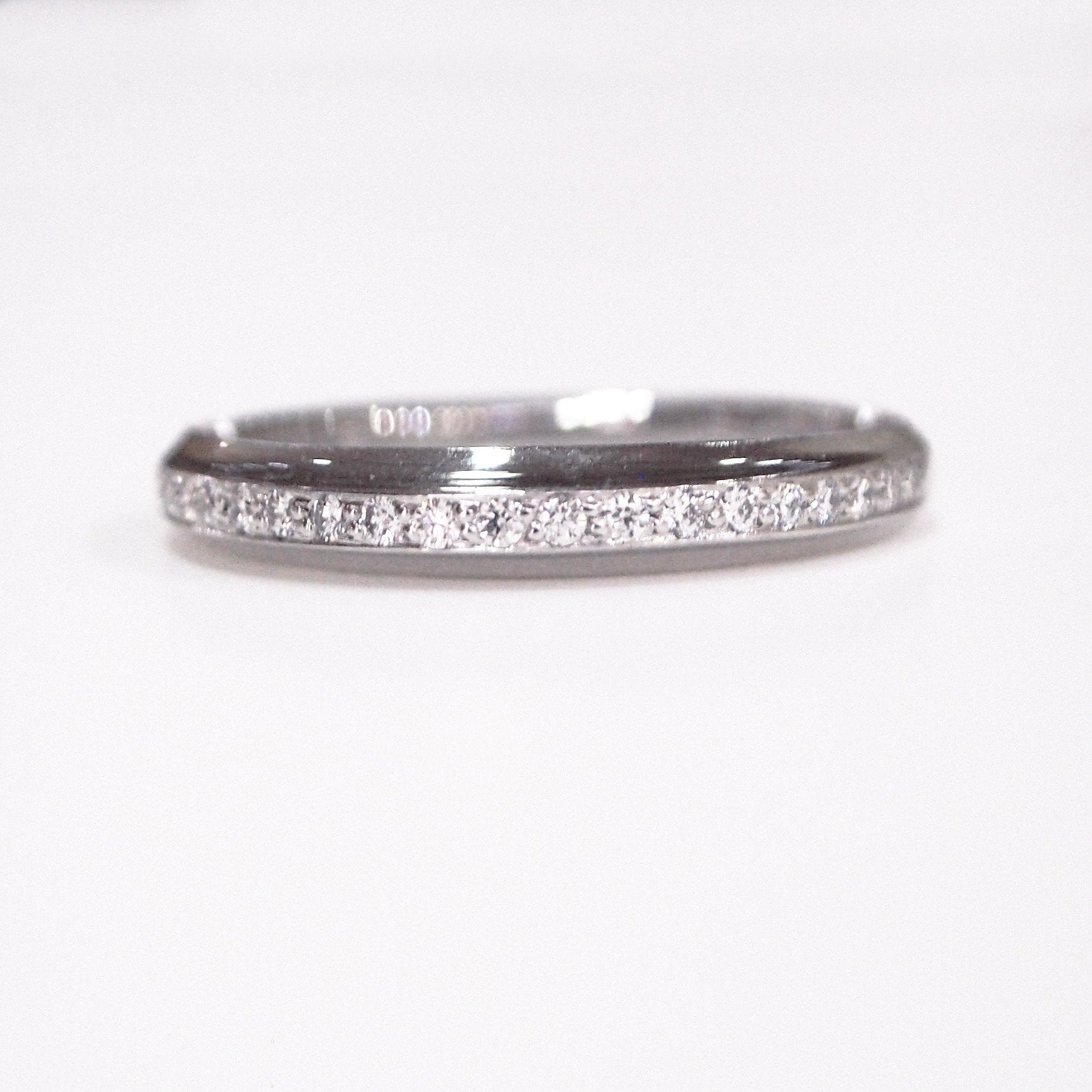yellow gold ring full bands color diamond wedding straight g vs in and h baguette band clarity premium