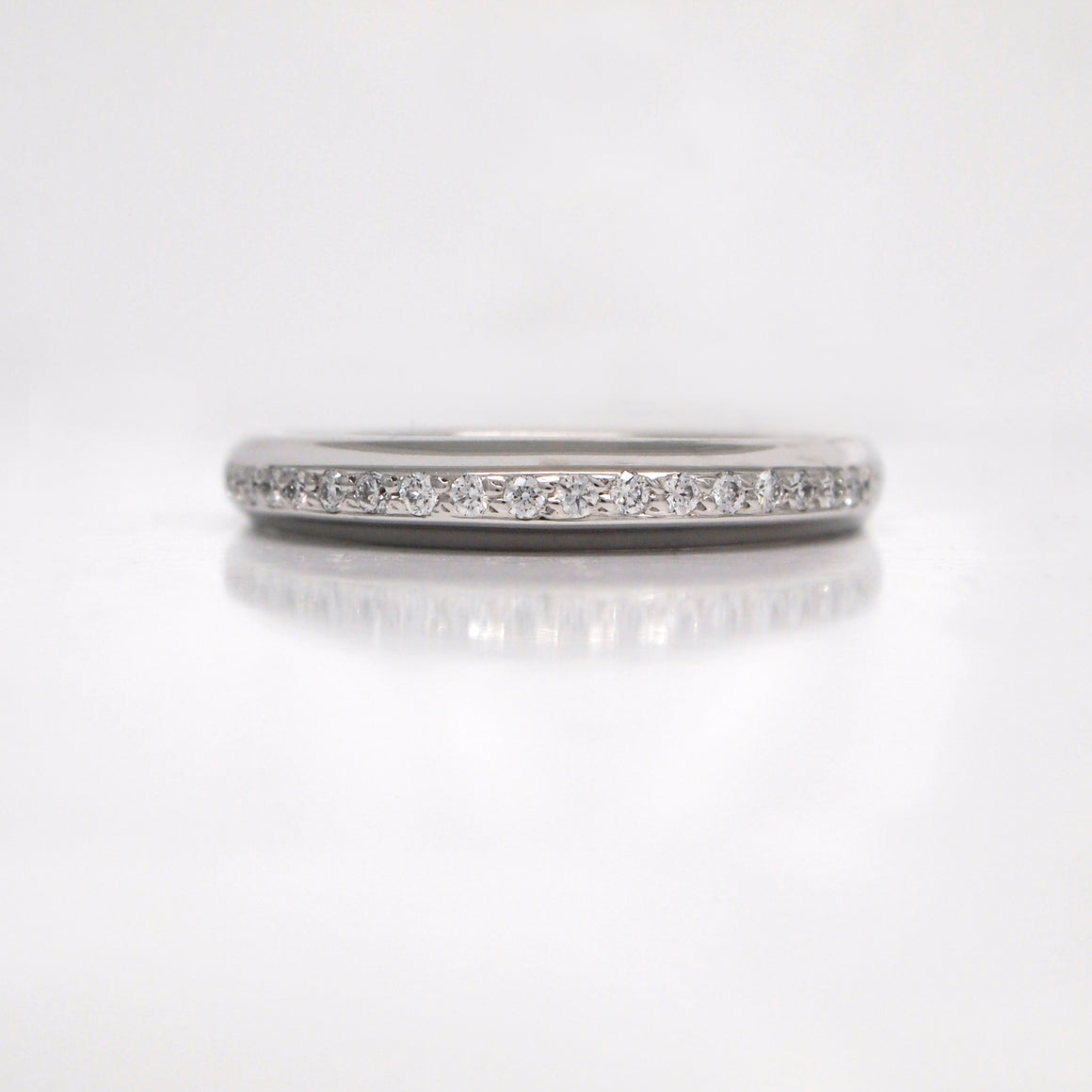 Lazare Kaplan 18K White Gold Diamond Wedding Band