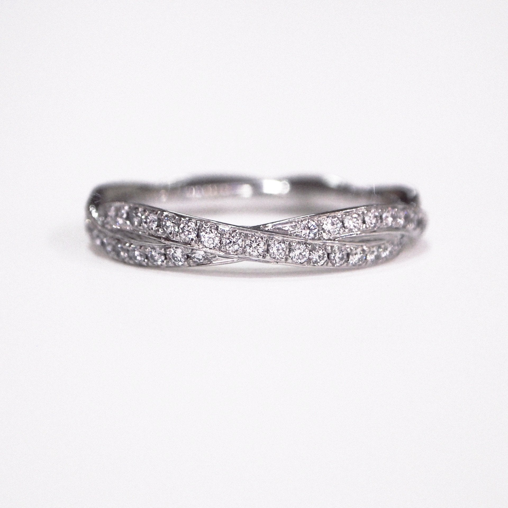 engraved hoop diamond platinum eternity ring band carat m shipping size s wedding bands deco antique anniversary art free pin full