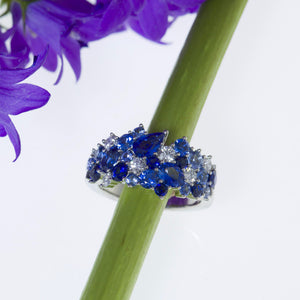 Mark Patterson Sapphire and Diamond Fashion Ring