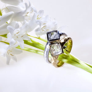 Lazare Kaplan 18K yellow gold bezel-set rough diamond ring