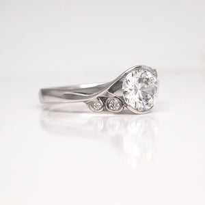 Maevona Fern Bridal Ring