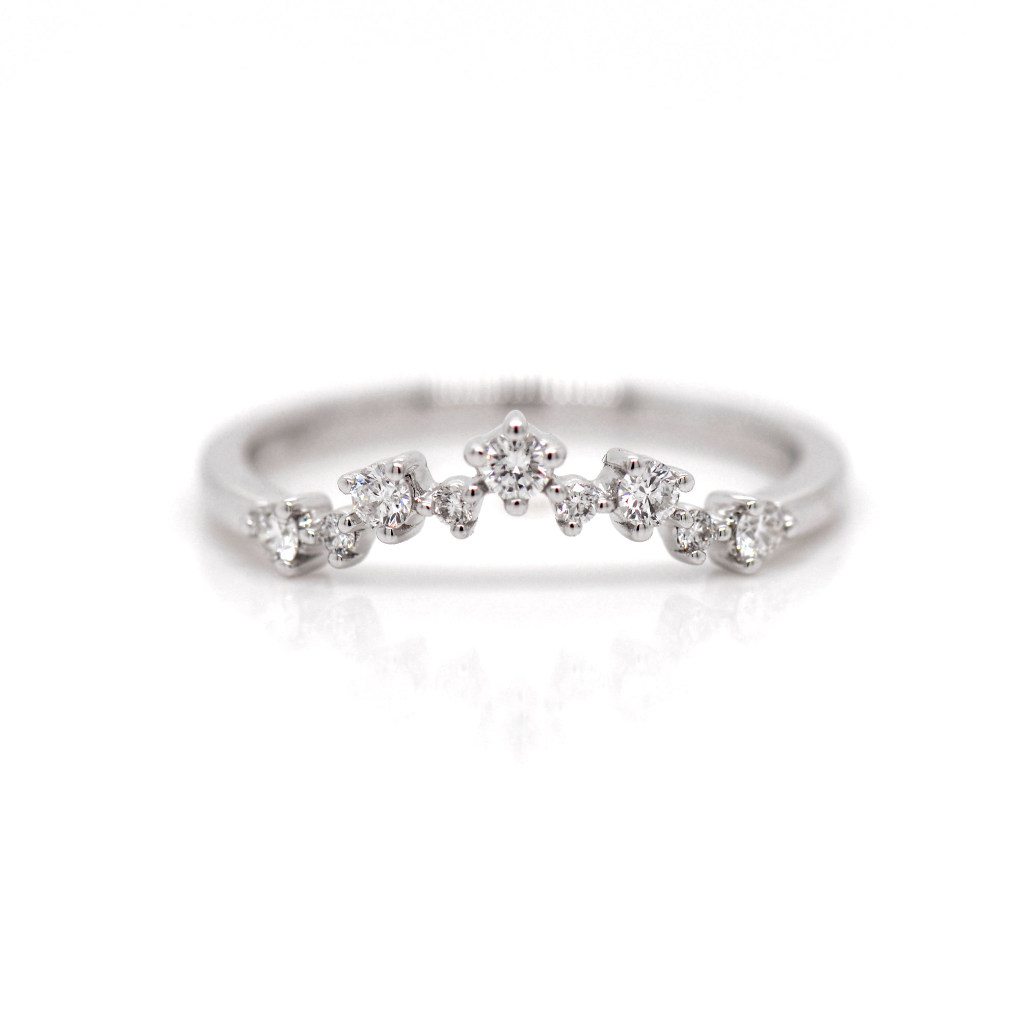 Platinum Diamond Tiara Wedding Band