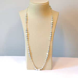 Silvery Graduated Pearl Necklace
