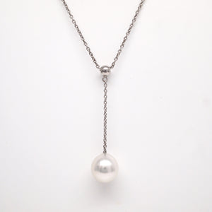 Sterling Silver South Sea Pearl Y Necklace