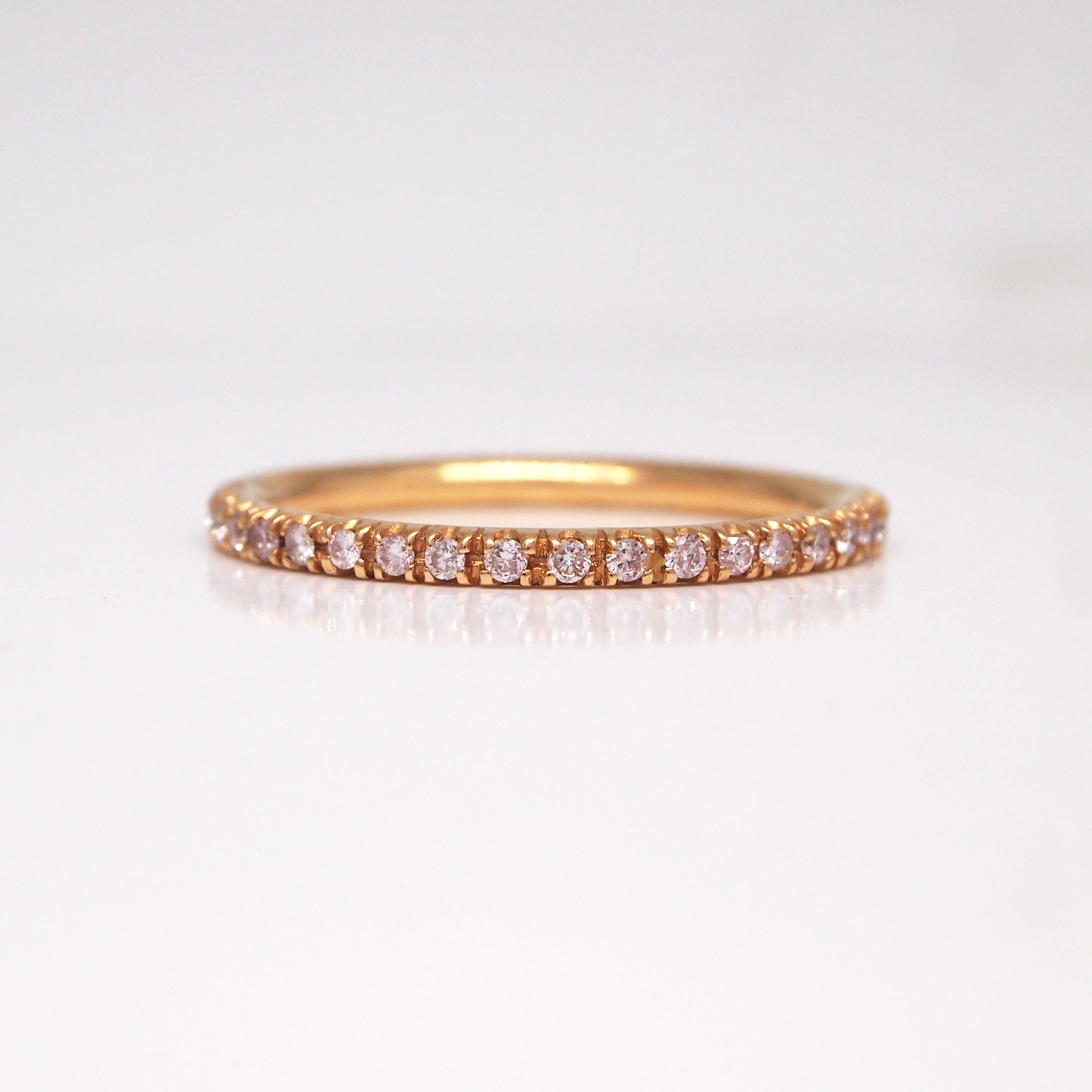rose band ct with diamonds ring eternity modern engagement argyle rings gold and white wedding pink bands