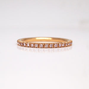 18K Rose Gold Pink Diamond Eternity Band