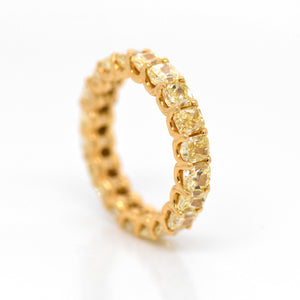 18K Yellow Gold Radiant Yellow Diamond Eternity Band