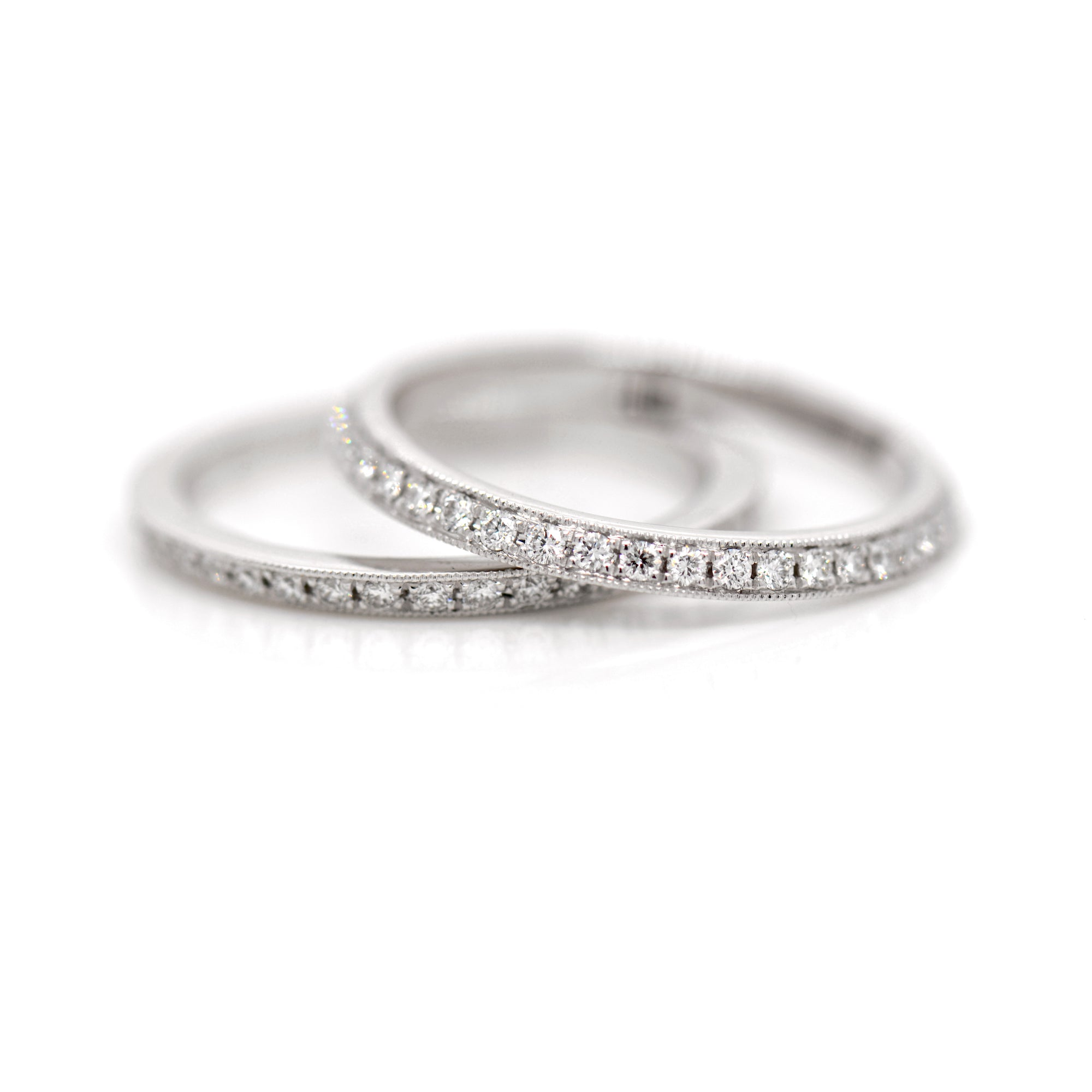 Platinum Diamond Eternity Ring Guards