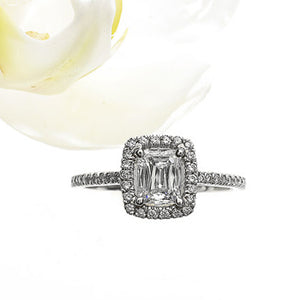 Christopher Designs Platinum CrissCut Diamond Engagement Ring