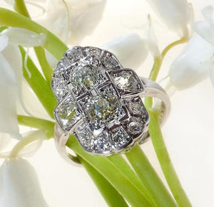 antique platinum edwardian diamond ring Judith Arnell Jewelers