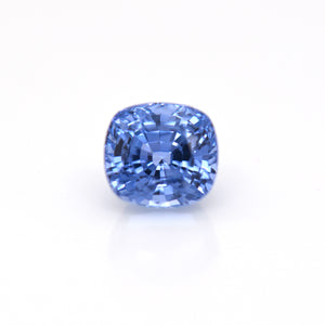 3.33 Carat Light Blue Cushion Sapphire