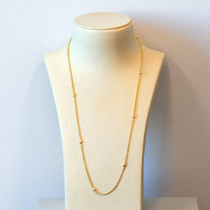 14K Yellow Gold Diamond Chain Necklace