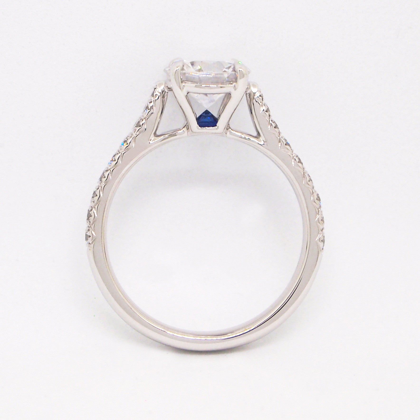 sapphire solitaire white ring natural light unheated gold pin carat oval and blue diamond engagement